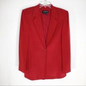 Liz Claiborne Collection Red Silk Blazer